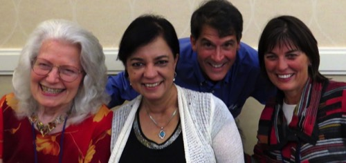 PMH, Anita Moorjani, Dr. Eben Alexander, and Dr. Mary Neal at the 2013 IANDS Conference.