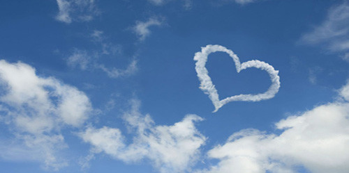 heart shaped cloud 5307