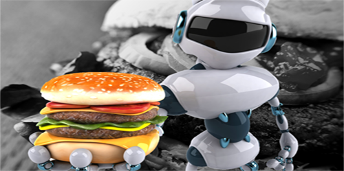 burger robot serving food