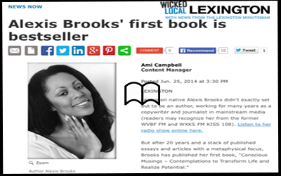 Alexis explains how becoming an author was not necessarily her planned path and how her new book fast became a #1 best-seller. (June 2014)